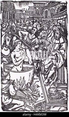 Probably French 16th Century, The Martyrdom of a Saint, woodcut - Stock Photo