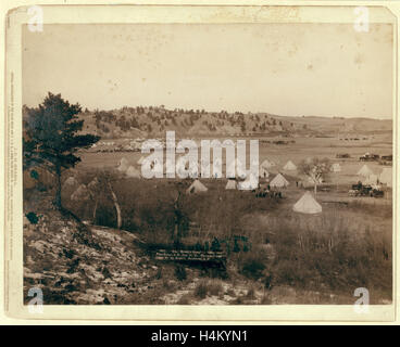 General Brook's Camp. Camp Near Pine Ridge. S.D., Jan. 17, 1891 - Stock Photo
