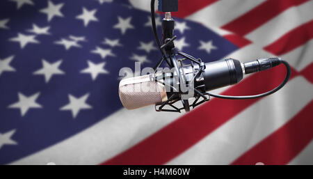 Composite image of condenser microphone - Stock Photo
