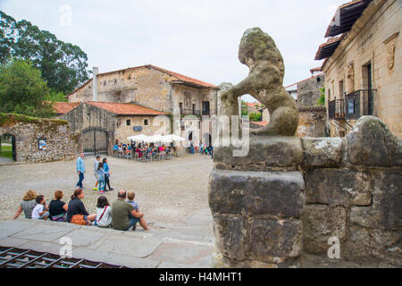 View from the collegiate church. Santillana del Mar, Cantabria, Spain. - Stock Photo