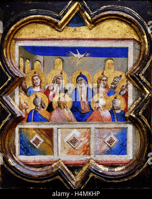 The outpouring of the Holy Spirit bu Bernardo Daddi 1290 - 1348 Florence painter 14th Century  Italy Italian - Stock Photo
