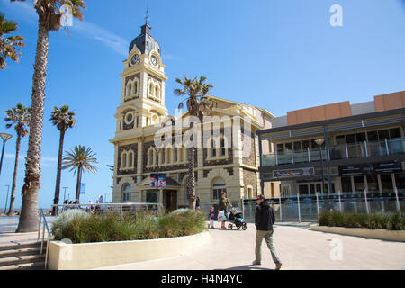 Glenelg town hall building in moseley square, Adelaide,South Australia - Stock Photo