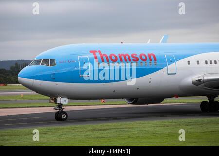 Thomson Airways Boeing 737- 800 at Manchester Ringways Airport - Stock Photo