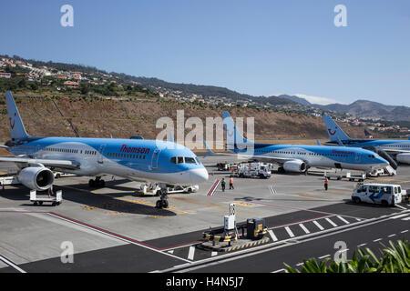 Thomson Airways Boeing 757- 200 at Manchester Ringways Airport - Stock Photo