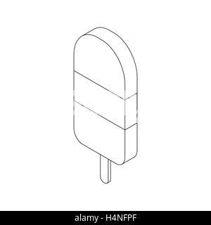 Eskimo pie icon, isometric 3d style - Stock Photo