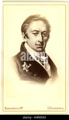 Nikolai Mikhailovich Karamzin, head-and-shoulders portrait, facing slightly right, c. 19th century. Russia - Stock Photo
