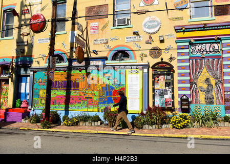 USA Pittsburgh PA Pennsylvania Randyland Randy Land a whimsical art gallery owned by Randy Gilson in Northside - Stock Photo