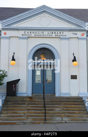 USA Pittsburgh PA Pennsylvania Carnegie Library Mount Washington Branch exterior - Stock Photo