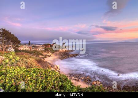 Little Corona Beach in Corona Del Mar, California at sunset in summerLittle Corona Beach in Corona Del Mar, California at sunset