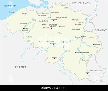 belgium map - Stock Photo