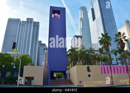 Pershing Square,downtown,center city,park,Los Angeles,California,USA - Stock Photo
