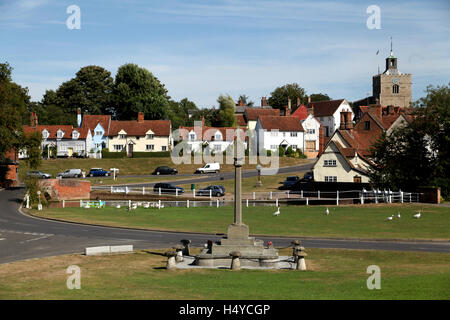 The village of Finchingfield is said by some to be the prettiest in Essex and most photographed in England - Stock Photo
