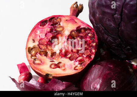 Pomegranate (Punica granatum) - Stock Photo