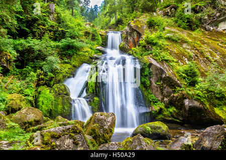 Triberg Falls, one of the highest waterfalls in Germany - Stock Photo