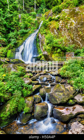 Triberg Falls, one of the highest waterfalls in Germany - the Black Forest region - Stock Photo