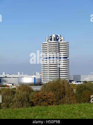 Munich BMW Museum building Germany Europe - Stock Photo