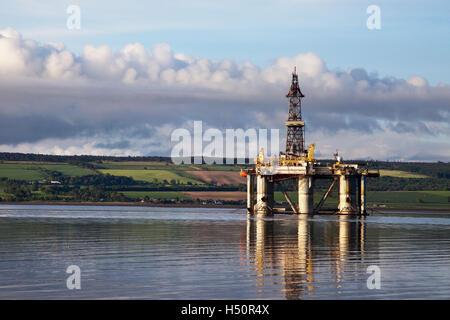 GSF ARCTIC II, Artic, Oil Rig platform vessel in Cromarty Firth, port of Invergordon, Scotland - Stock Photo