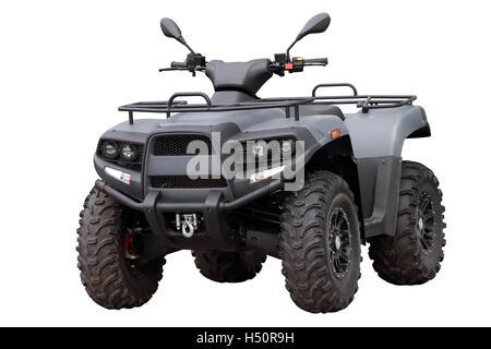 Powerful modern ATV, isolated on white background - Stock Photo