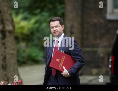 James Brokenshire,secretary of State for Northern Ireland,arrives at 10 Downing Street,for a Cabinet meeting - Stock Photo