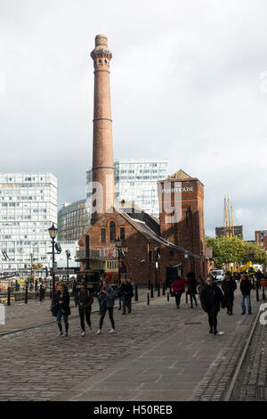 The Pumphouse by Pier Head on the Liverpool Waterfront Merseyside England United Kingdom UK - Stock Photo