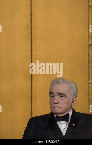 Tokyo, Japan. 18th Oct, 2016. Martin Scorsese waits to be rewarded during the award ceremony for the 28th Praemium - Stock Photo