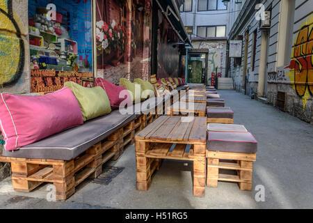 Wooden bar - Stock Photo
