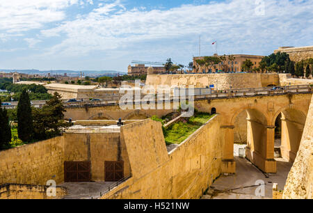 View of fortifications of Valletta - Malta - Stock Photo