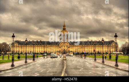 View of Les Invalides in Paris, France - Stock Photo
