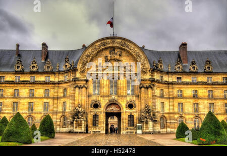 Entrance to Les Invalides in Paris, France - Stock Photo