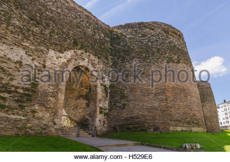 Gate to the old city of Lugo - Galicia, Spain Stock Photo ...