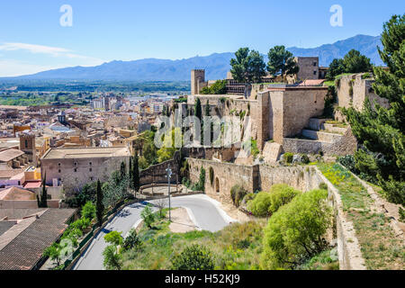 Walls and fortress ruins in castle of Tortosa in Catalonia, Spain. - Stock Photo