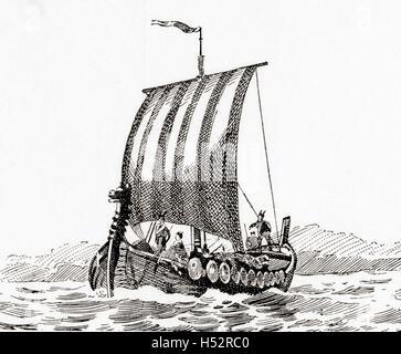 A Norman ship. - Stock Photo
