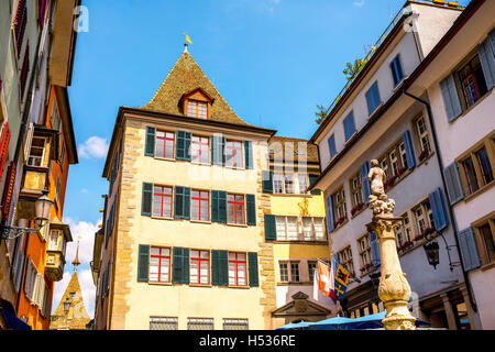 Zurich city in Switzerland - Stock Photo
