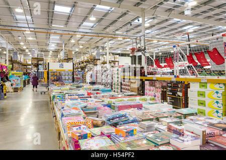 Interior of Costco Wholesale Store, Hanworth Road, Sunbury-on-Thames, Surrey, England, United Kingdom - Stock Photo
