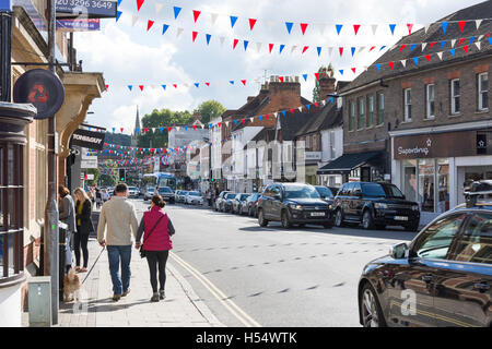 High Street, Marlow, Buckinghamshire, England, United Kingdom - Stock Photo