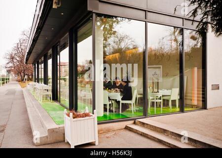 Steirereck restaurant in the Stadtpark city park, Vienna, Austria, Europe - Stock Photo