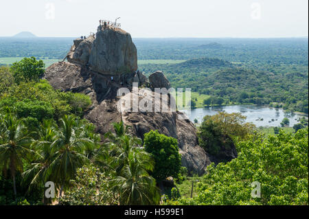 Aradhana Gala Rock, Mihintale, Anuradhapura, Sri Lanka - Stock Photo