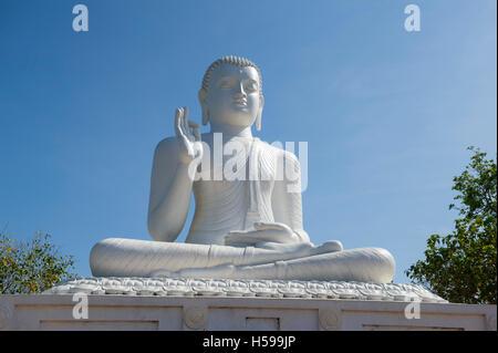 The great seated Buddha at Mihintale, Anuradhapura, Sri Lanka - Stock Photo