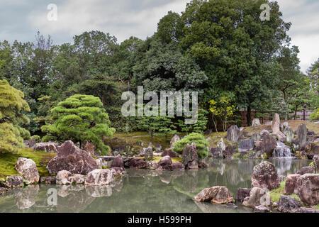 View of Ninomaru garden at Nijo Castle. - Stock Photo