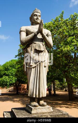 Statue of King Devanampiya Tissa, Mihintale, Anuradhapura, Sri Lanka - Stock Photo