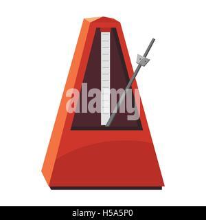 Classic metronome icon, cartoon style - Stock Photo