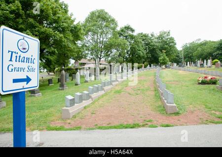 Titanic Graves - Halifax - Nova Scotia - Stock Photo