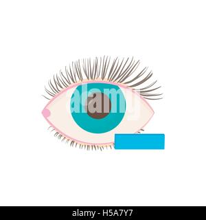 Myopia eyesight disorder icon, cartoon style - Stock Photo