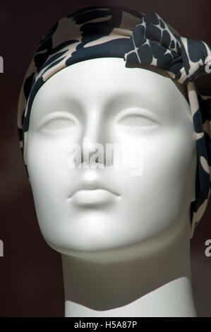 Mannequin in a store window on Worth Avenue, Palm Beach, Florida - Stock Photo