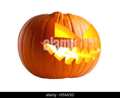 halloween pumpkin isolated  on white - Stock Photo