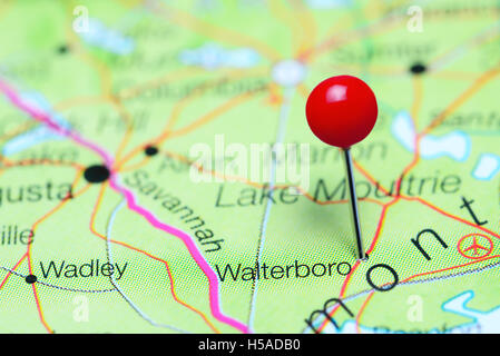 Map of South Carolina a state of United States Stock Photo