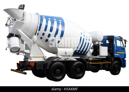 Car for transportation of concrete, isolated on white background - Stock Photo