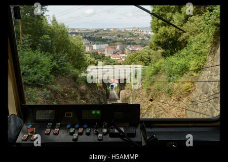 The funicular Larreineta, in the Valley of Trapaga, Trapagaran, Bilbao, Basque Country, Spain. - Stock Photo