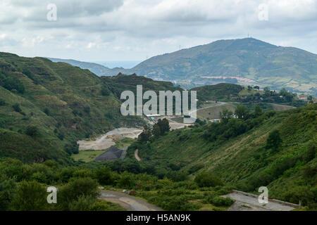 La Arboleda - mine area in Trapaga Valley near Bilbao, Vizcaya, Basque Country, Spain, Europe. - Stock Photo