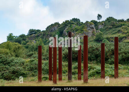 Sculpture in the park of La Arboleda - recreation area in Trapaga Valley near Bilbao, Vizcaya, Basque Country, Spain, - Stock Photo
